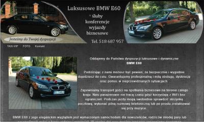Taxi VIP - luksusowe BMW do ślubu i na spotkania biznesowe.