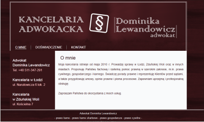Kancelaria adwokacka - Adwokat Dominika Lewandowicz.