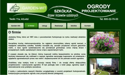 Garden-WIT - projektowanie ogrodów, szkółka krzewów ozdobnych.