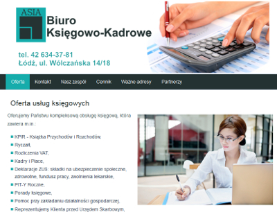 Biuro księgowo-kadrowe Asia - usługi księgowe.